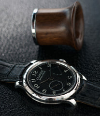 time-only dress watch F. P. Journe Chronometre Souverain Black Label 40 mm platinum for sale online at A Collected Man London online specialist of independent watchmakers