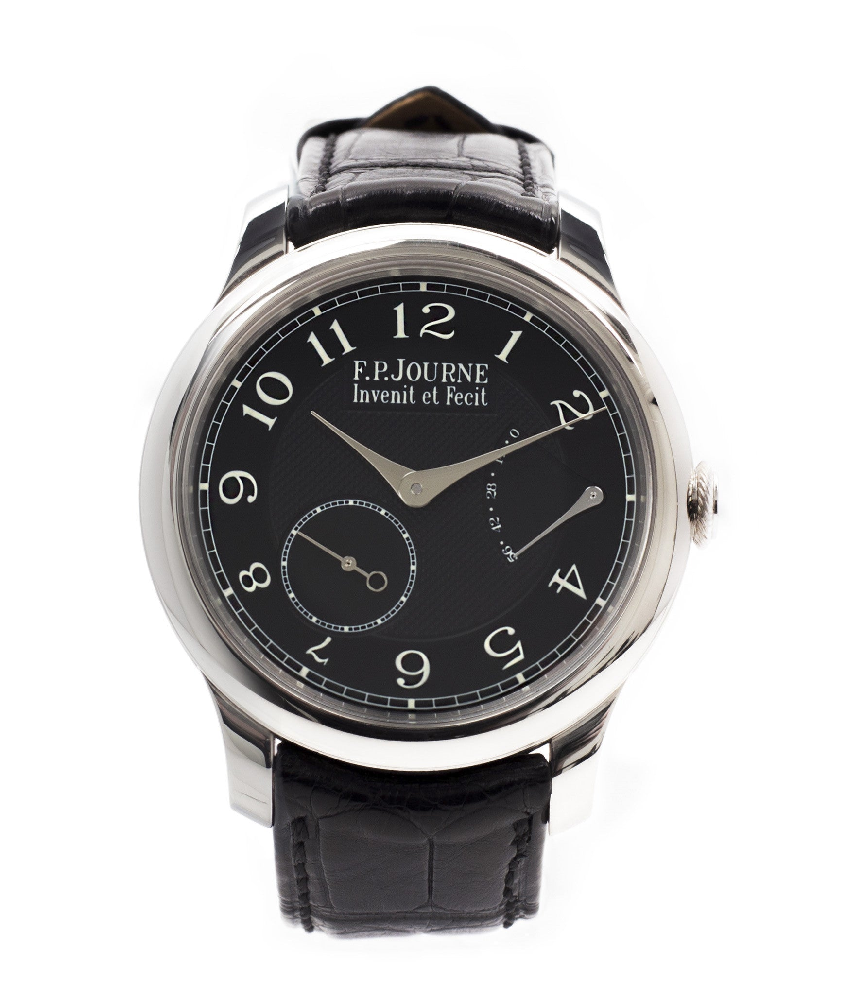 buy F. P. Journe Chronometre Souverain Black Label 40 mm platinum for sale online at A Collected Man London online specialist of independent watchmakers