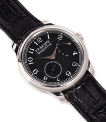 selling F. P. Journe Chronometre Souverain Black Label 40 mm platinum for sale online at A Collected Man London online specialist of independent watchmakers