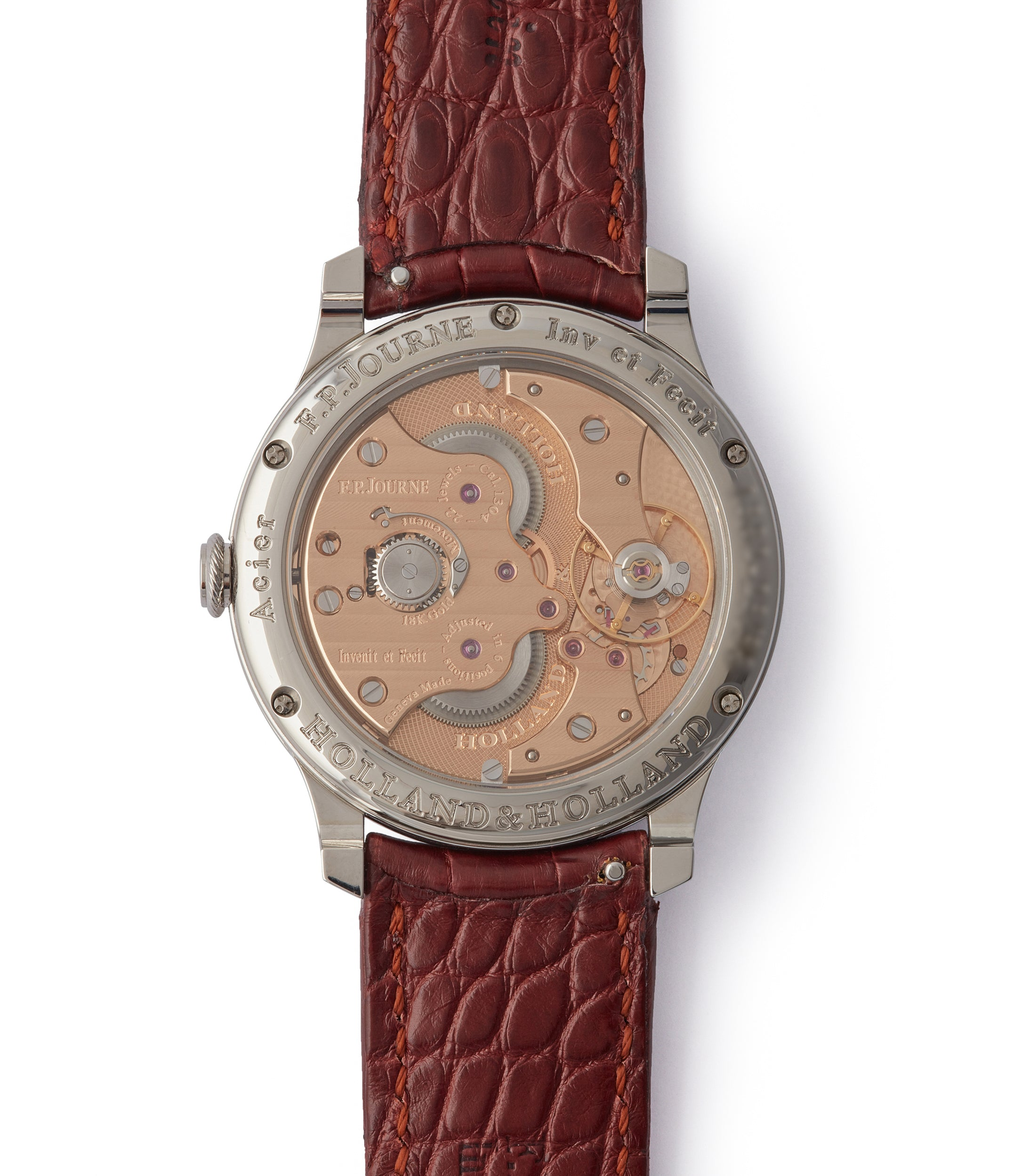 manual-winding F. P. Journe Holland&Holland Chronometre Souverain watch for sale online A Collected Man London specialist independent watchmakers