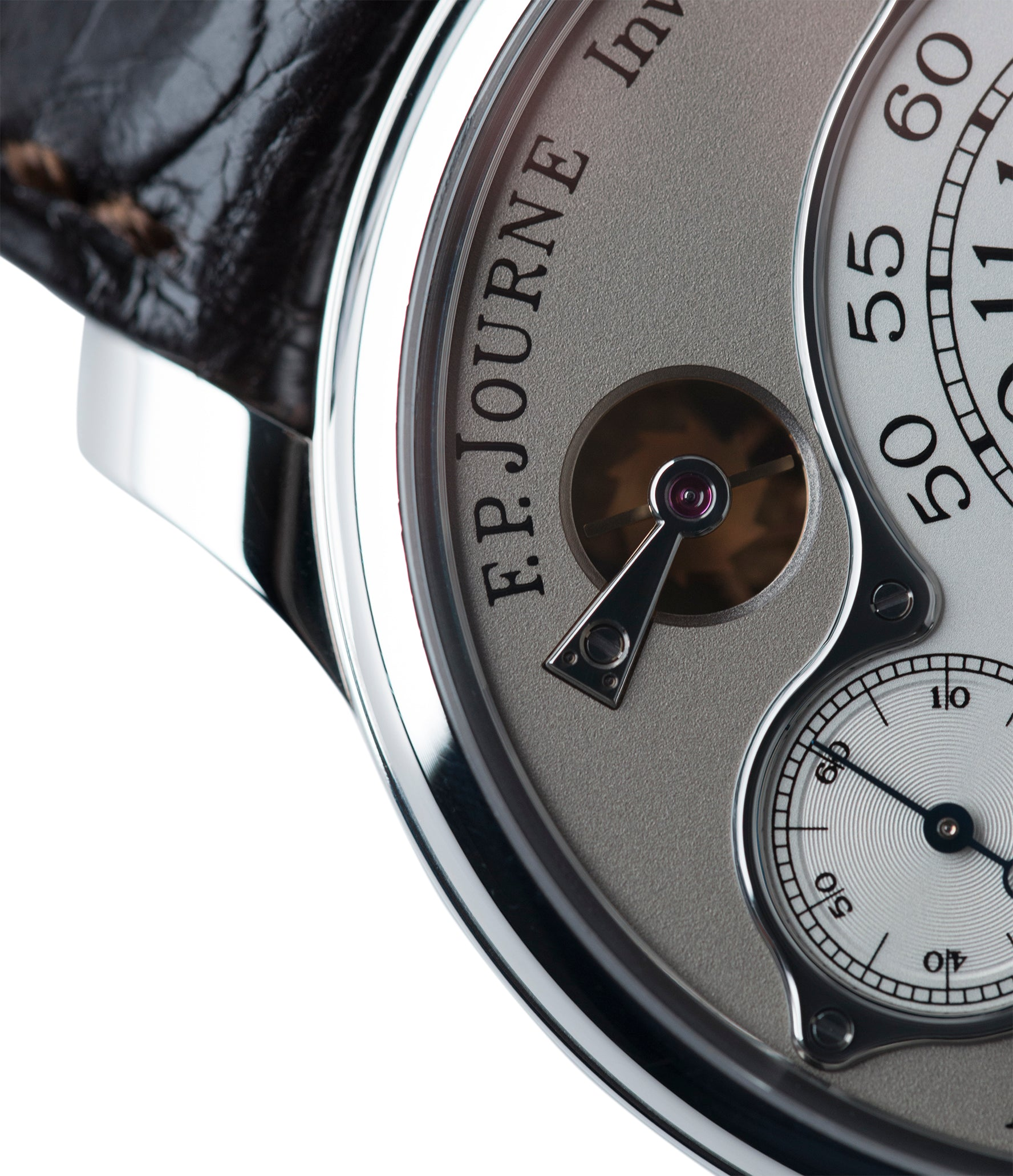 one-second rementoir d'egalité system F. P. Journe Chronometre Optimum platinum rare watch for sale online at A Collected Man London approved retailer of independent watchmakers