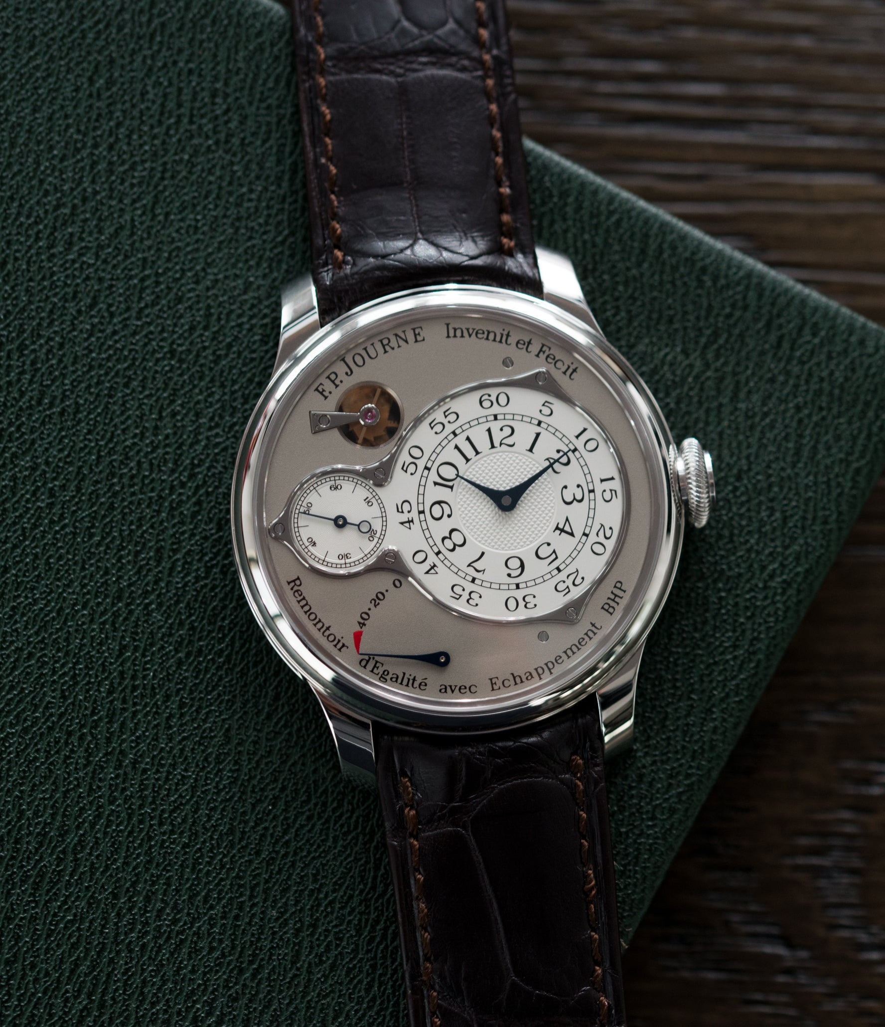 shop F. P. Journe Chronometre Optimum platinum rare watch for sale online at A Collected Man London approved retailer of independent watchmakers