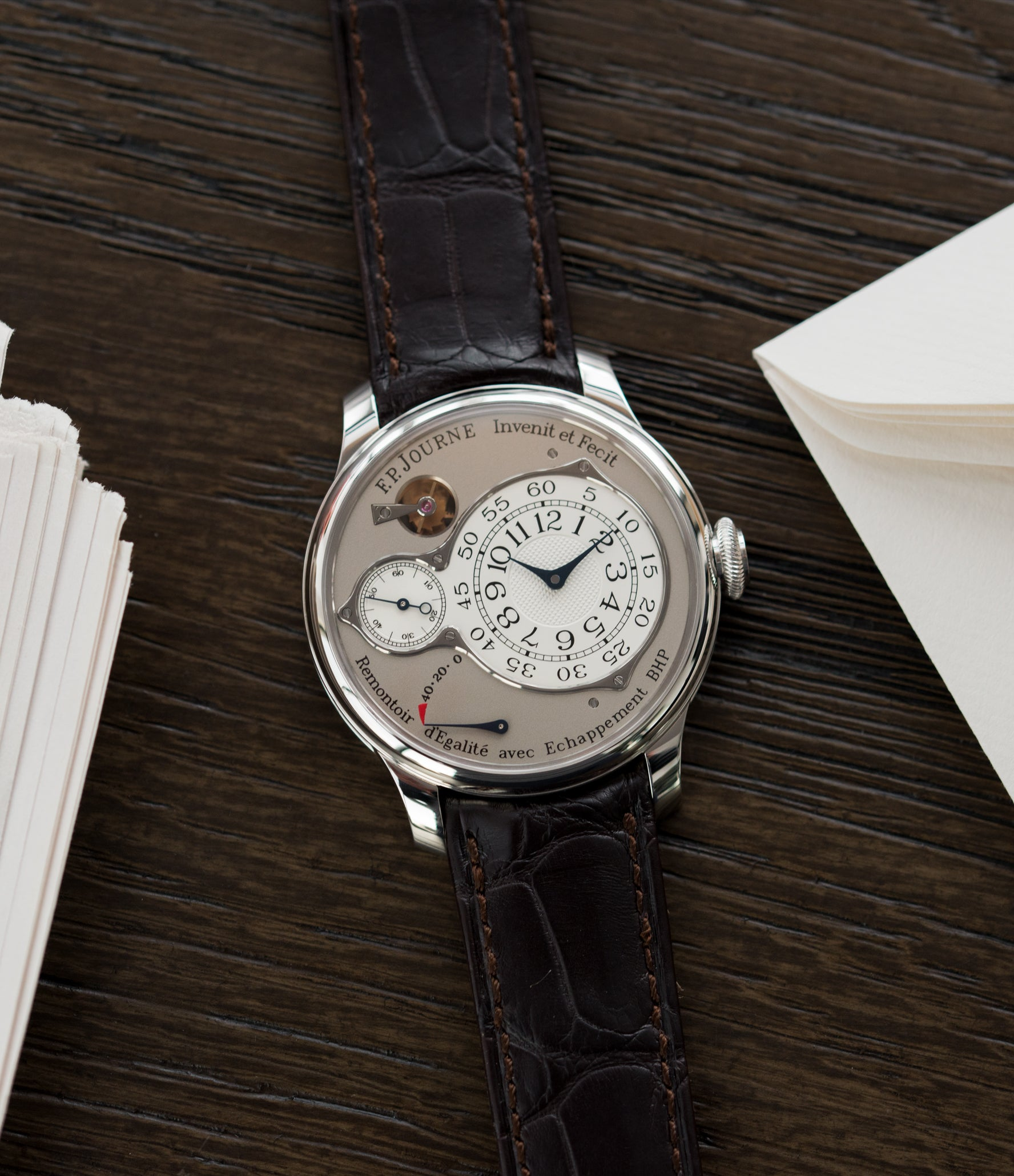 preowned F. P. Journe Chronometre Optimum platinum rare watch for sale online at A Collected Man London approved retailer of independent watchmakers