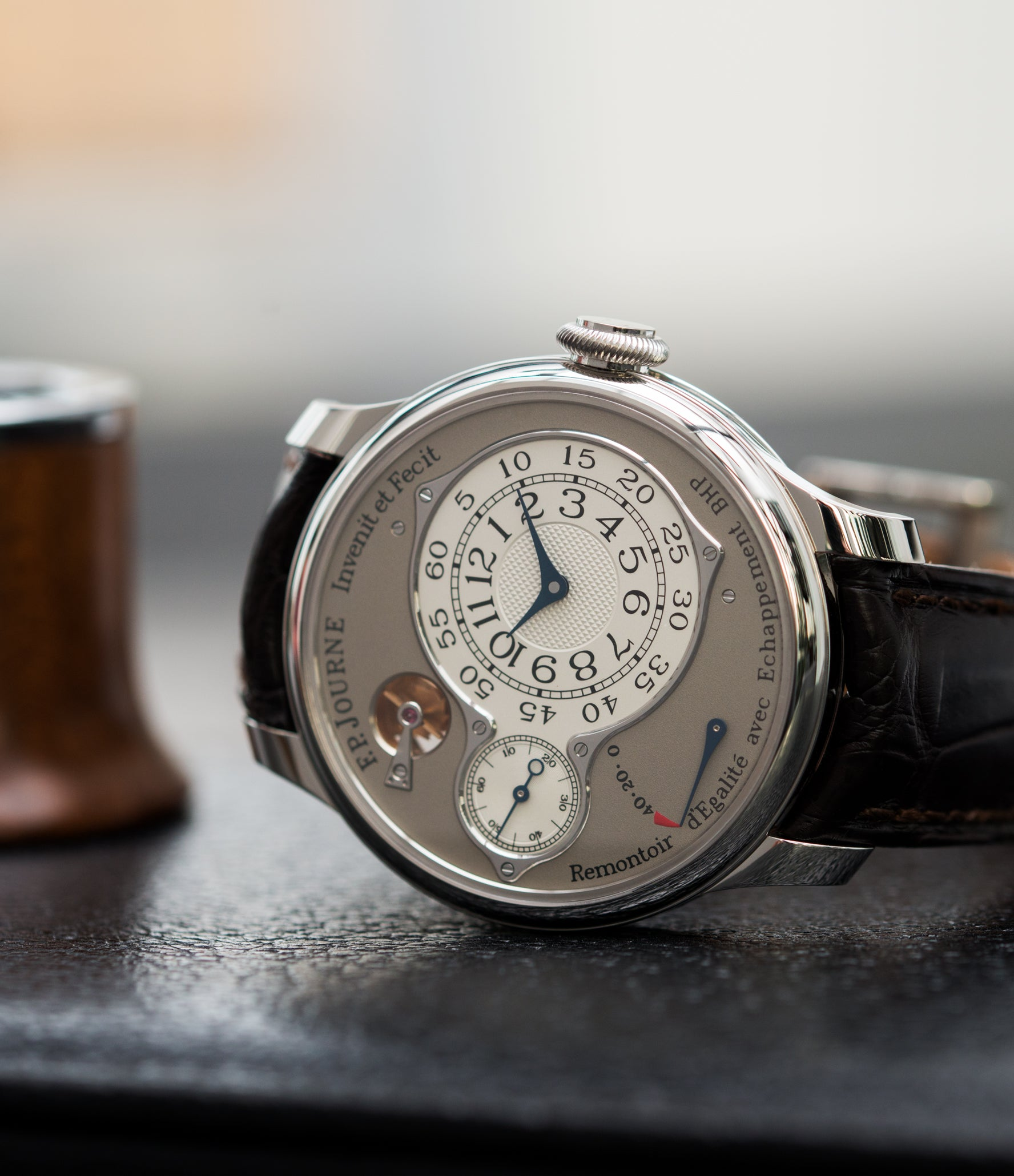 platinum preowned F. P. Journe Chronometre Optimum platinum rare watch for sale online at A Collected Man London approved retailer of independent watchmakers