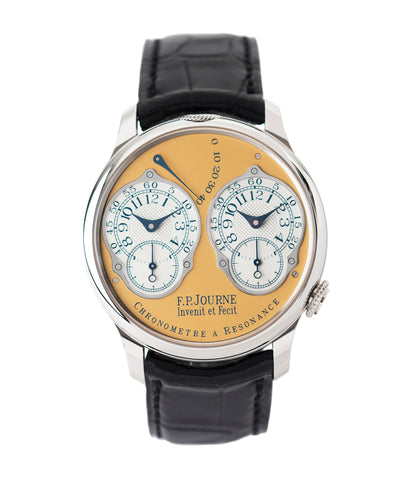 buy F. P. Journe Chronomètre à Résonance Steel 38 mm Limited Edition Set of 5 watches for sale online at A Collected Man London approved UK retailer independent watchmakers