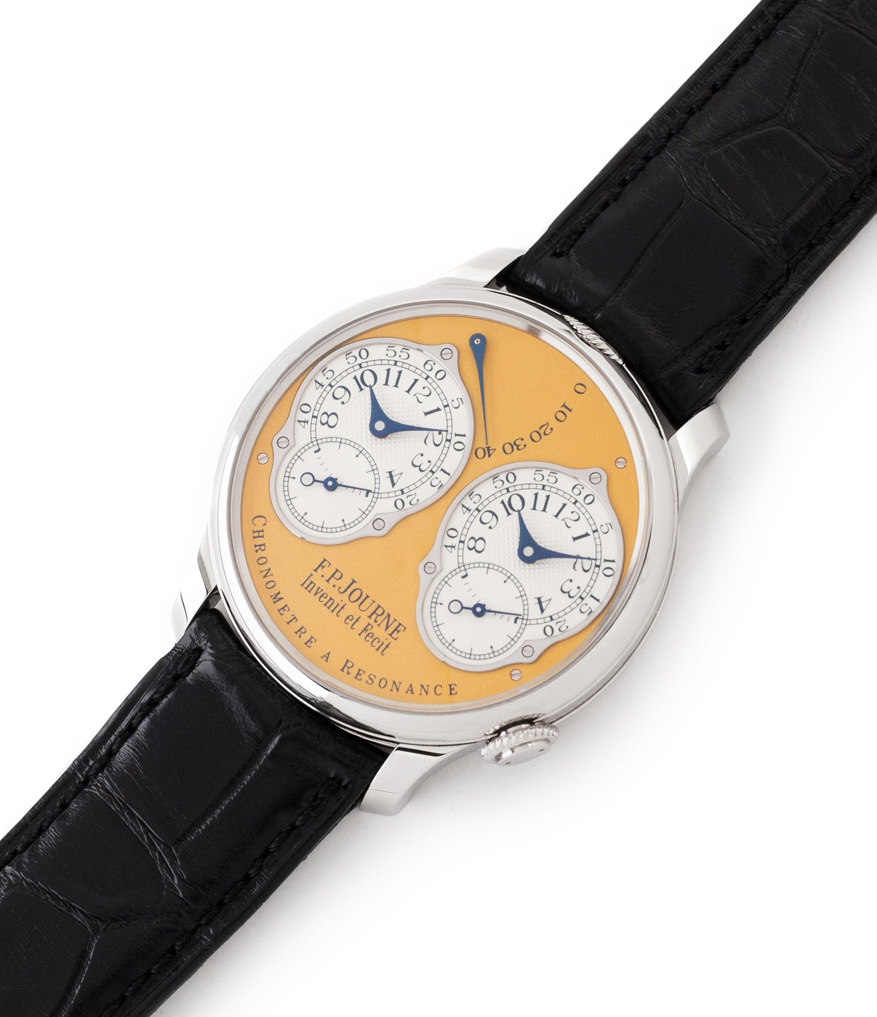 preowned F. P. Journe Chronomètre à Résonance Steel 38 mm Limited Edition Set of 5 watches for sale online at A Collected Man London approved UK retailer independent watchmakers