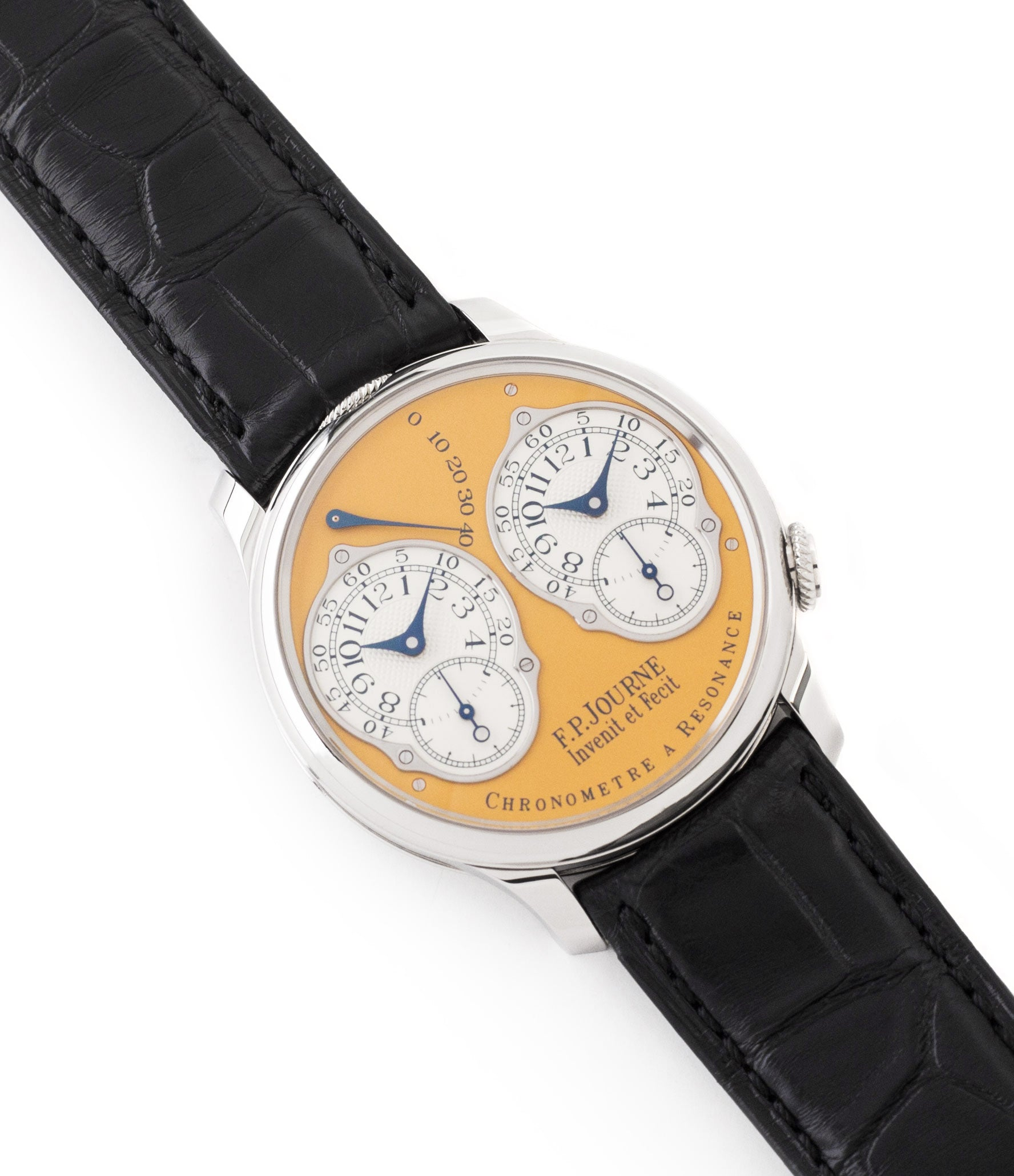 for sale F. P. Journe Chronomètre à Résonance Steel 38 mm Limited Edition Set of 5 watches for sale online at A Collected Man London approved UK retailer independent watchmakers