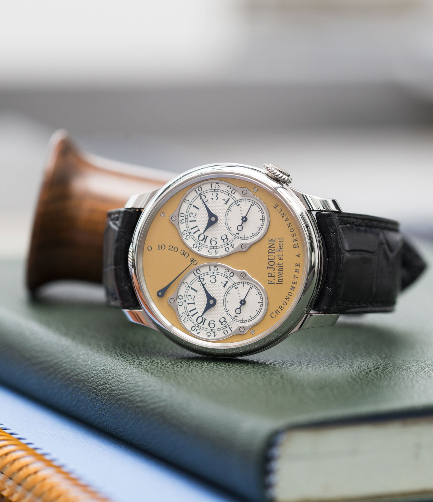selling F. P. Journe Chronomètre à Résonance Steel 38 mm Limited Edition Set of 5 watches for sale online at A Collected Man London approved UK retailer independent watchmakers