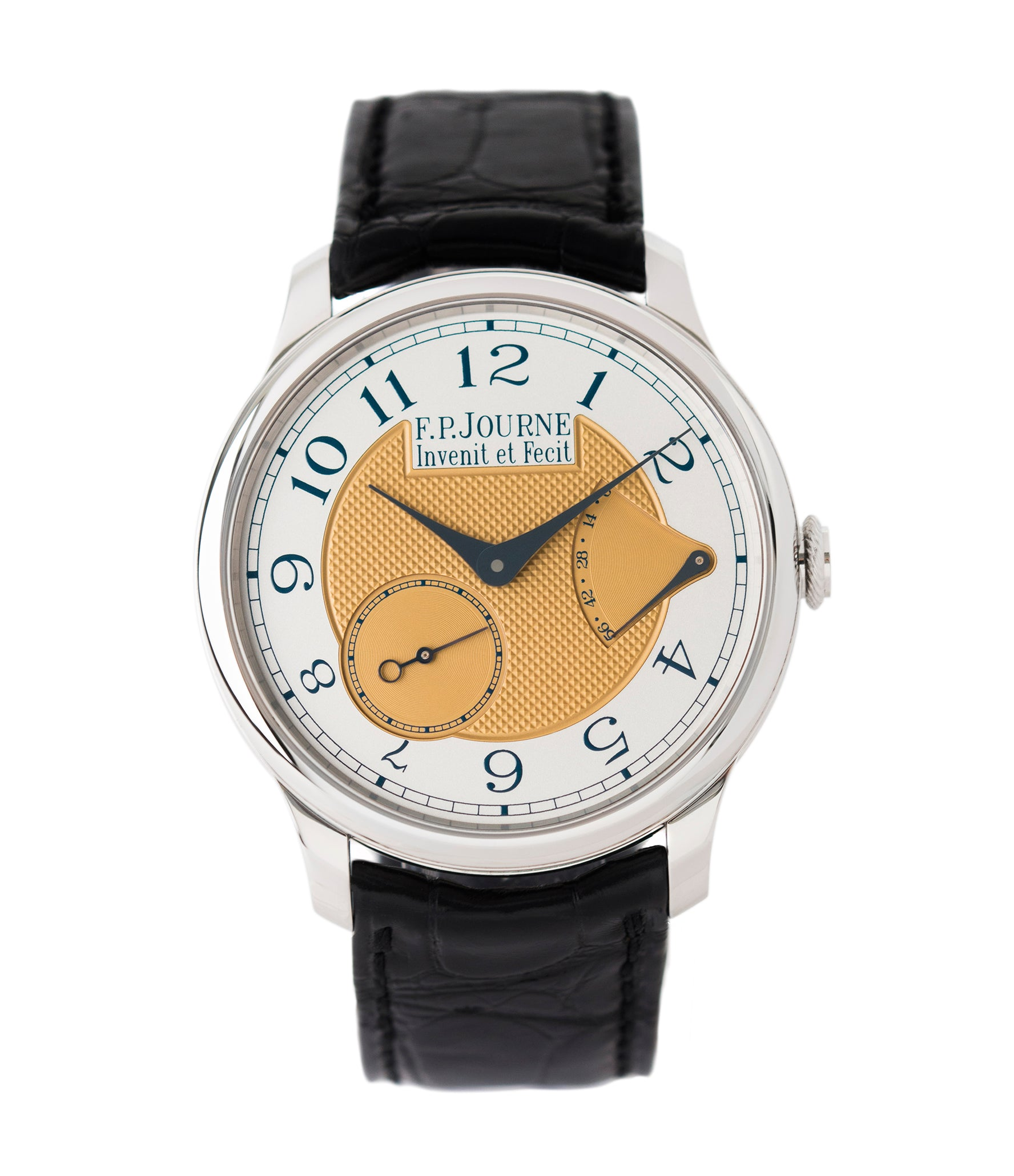 selling F. P. Journe Chronomètre Souverain Steel 38 mm Limited Edition Set for sale online at A Collected Man London approved UK retailer independent watchmakers
