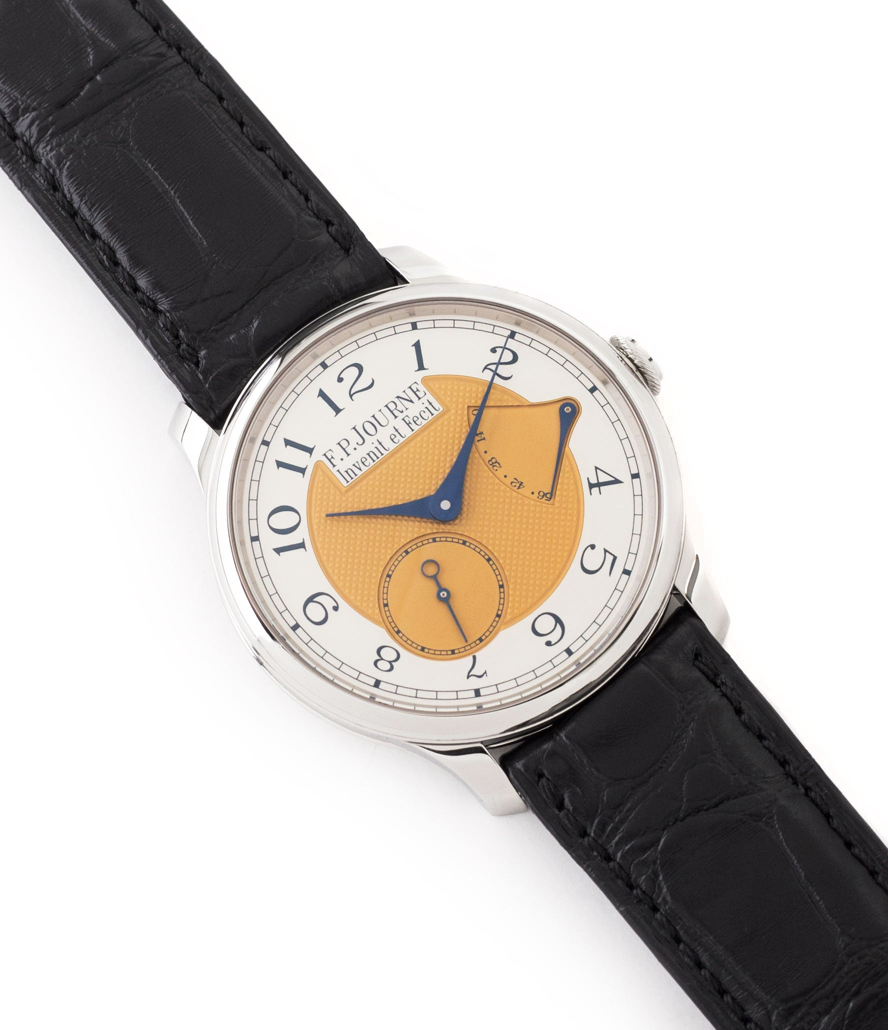 for sale F. P. Journe Chronomètre Souverain Steel 38 mm Limited Edition Set for sale online at A Collected Man London approved UK retailer independent watchmakers