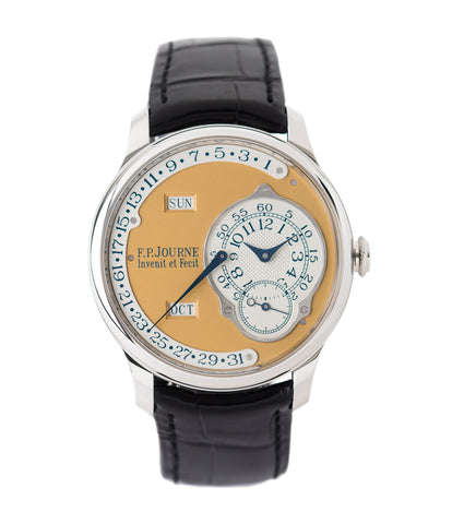 buy F. P. Journe Octa Calendrier Steel 38 mm Limited Edition Set for sale online at A Collected Man London approved UK seller of independent watchmakers
