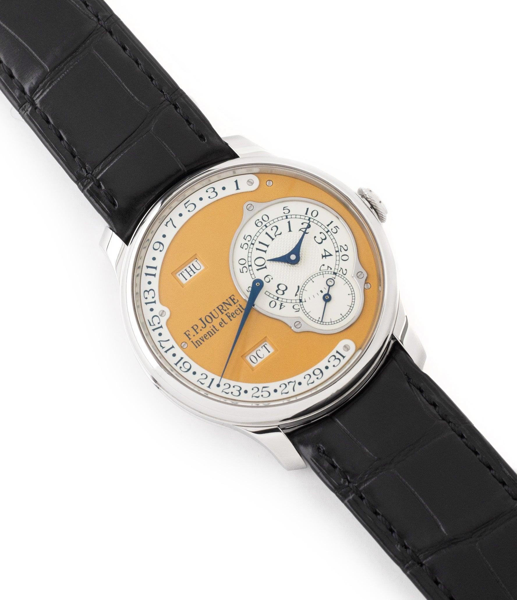 buy prowned F. P. Journe Octa Calendrier Steel 38 mm Limited Edition Set for sale online at A Collected Man London approved UK seller of independent watchmakers