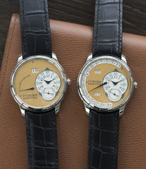 selling F. P. Journe Octa Calendrier Steel 38 mm Limited Edition Set for sale online at A Collected Man London approved UK seller of independent watchmakers