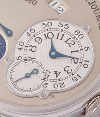 calendar moon phase watch F. P. Journe Octa Lune 061-03L early brass movement platinum rare watch for sale online at A Collected Man London specialist of independent watchmakers