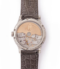 independent watchmaker early F. P. Journe Octa Lune 061-03L early brass movement platinum watch for sale online at A Collected Man London specialist of rare watches