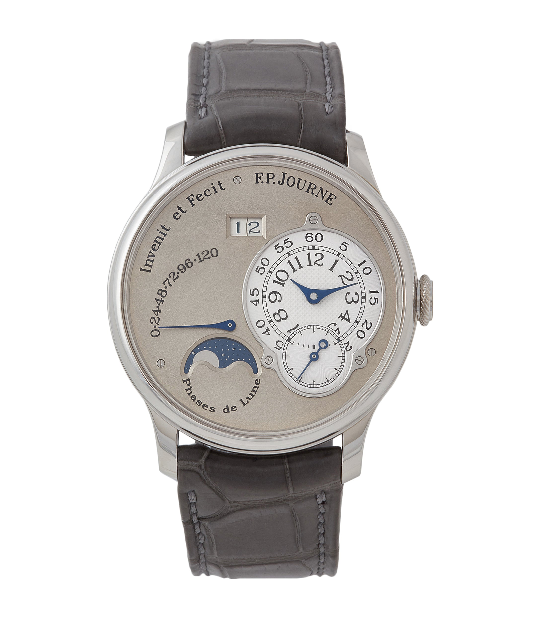 buy F. P. Journe Octa Lune 061-03L brass movement platinum rare watch for sale online at A Collected Man London specialist of independent watchmakers
