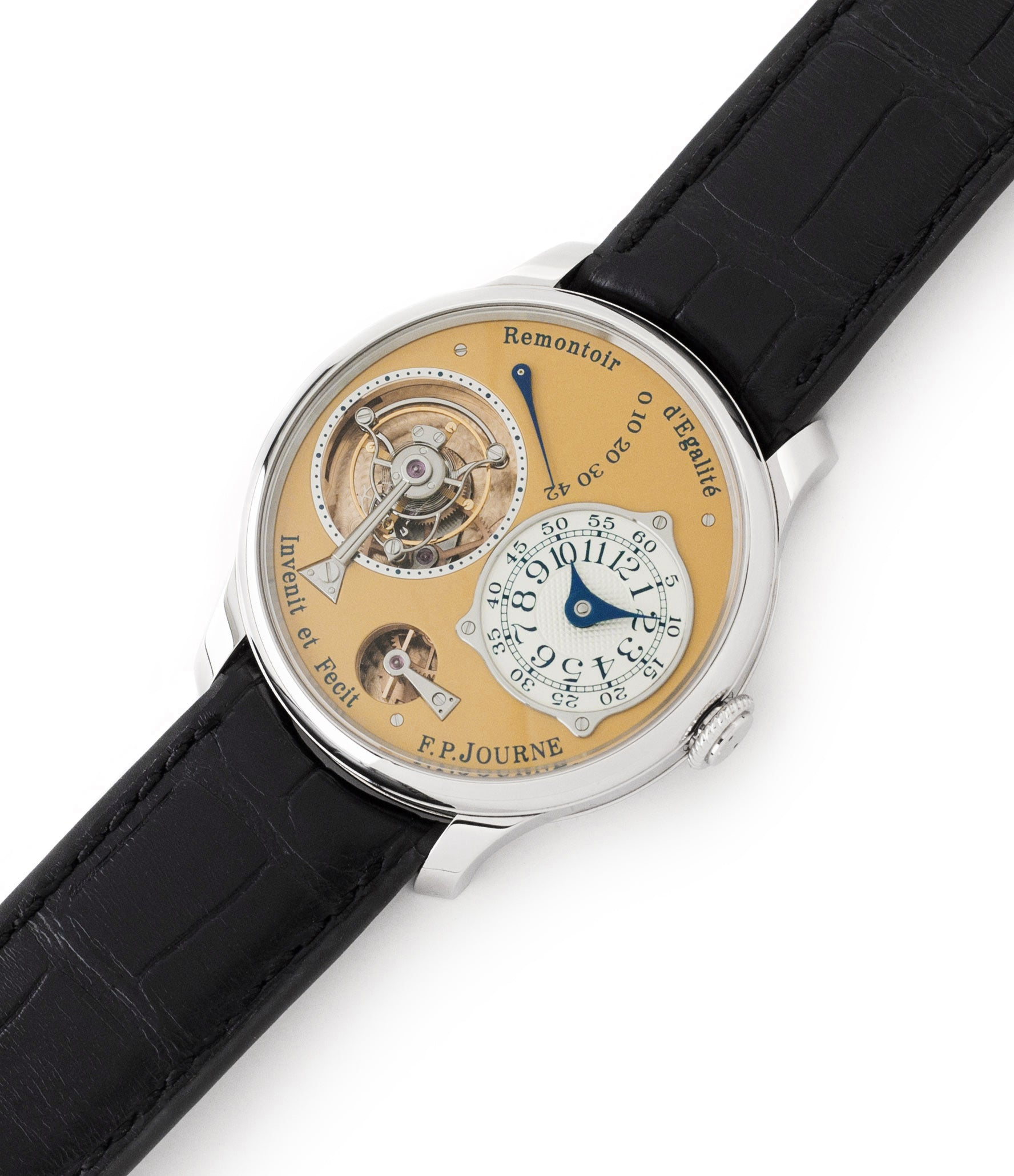 38 mm steel F. P. Journe Tourbillon Souverain steel dress watch for sale online at A Collected Man London UK approved seller of independent watchmakers