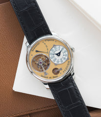 for sale F. P. Journe Tourbillon Souverain 38 mm steel dress watch for sale online at A Collected Man London UK approved seller of independent watchmakers