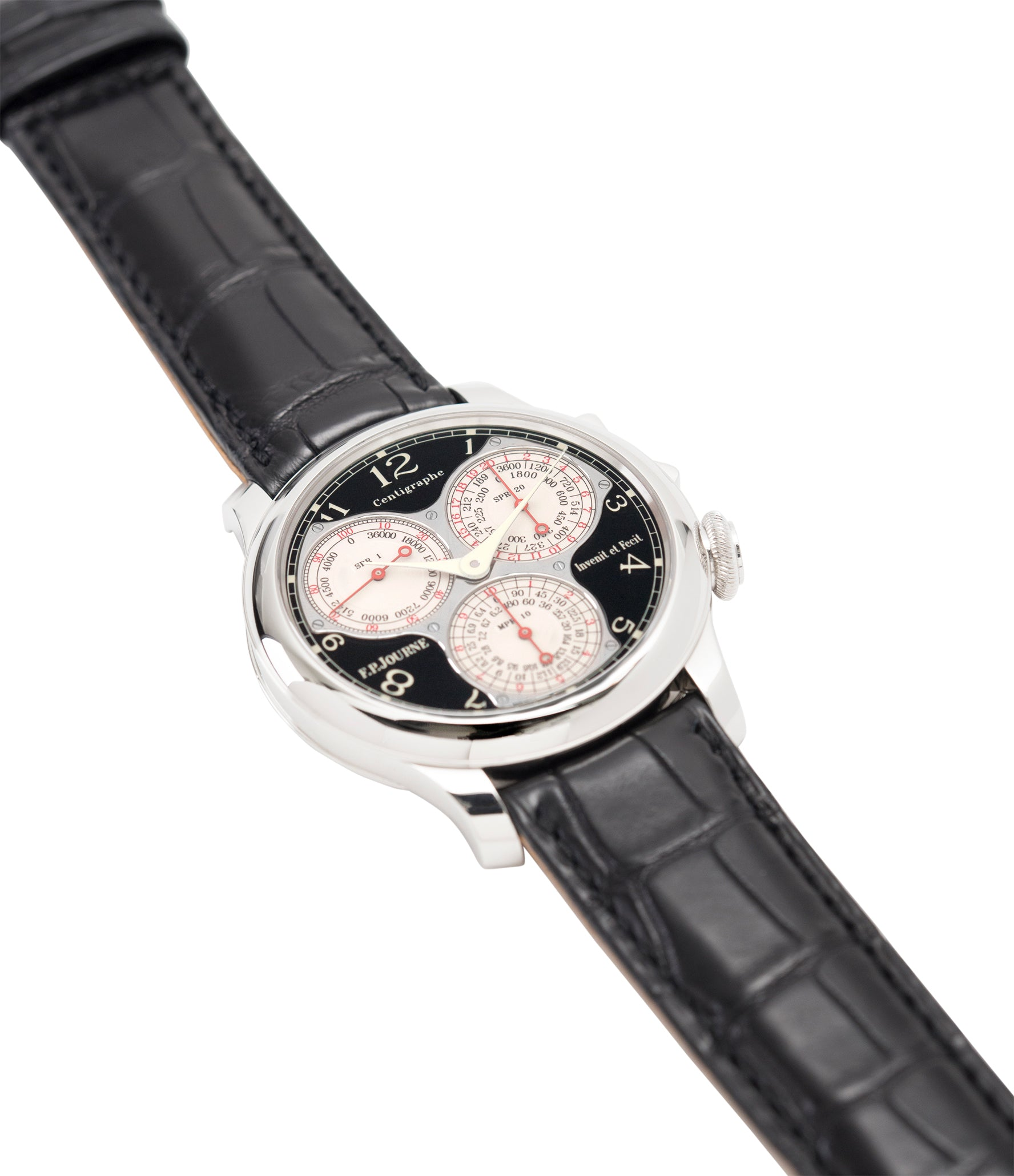 buy preowned F. P. Journe Centigraphe Souverain Black Label 40 mm pre-owned rare watch for sale online at A Collected Man London approved retailer of independent watchmakers