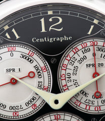 Black Label F. P. Journe Centigraphe Souverain 40 mm platinum pre-owned rare watch for sale online at A Collected Man London approved retailer of independent watchmakers