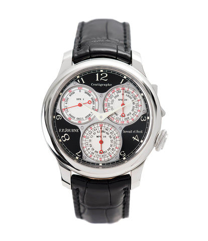 buy F. P. Journe Centigraphe Souverain Black Label 40 mm platinum pre-owned rare watch for sale online at A Collected Man London approved retailer of independent watchmakers