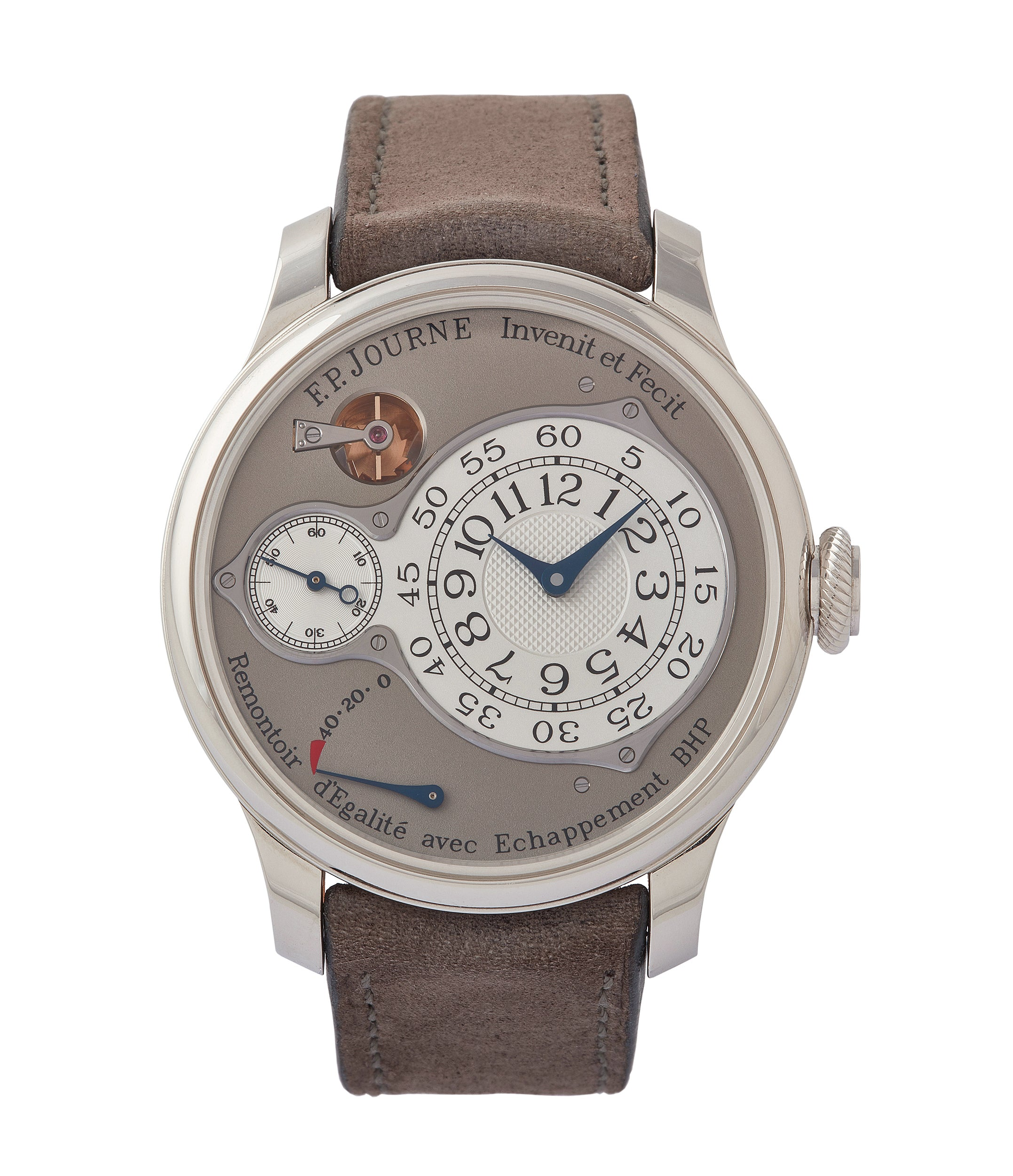 buy F. P. Journe Chronometre Optimum grey dial time-only dress watch for sale online at A Collected Man London UK specilalist of independent watchmakers