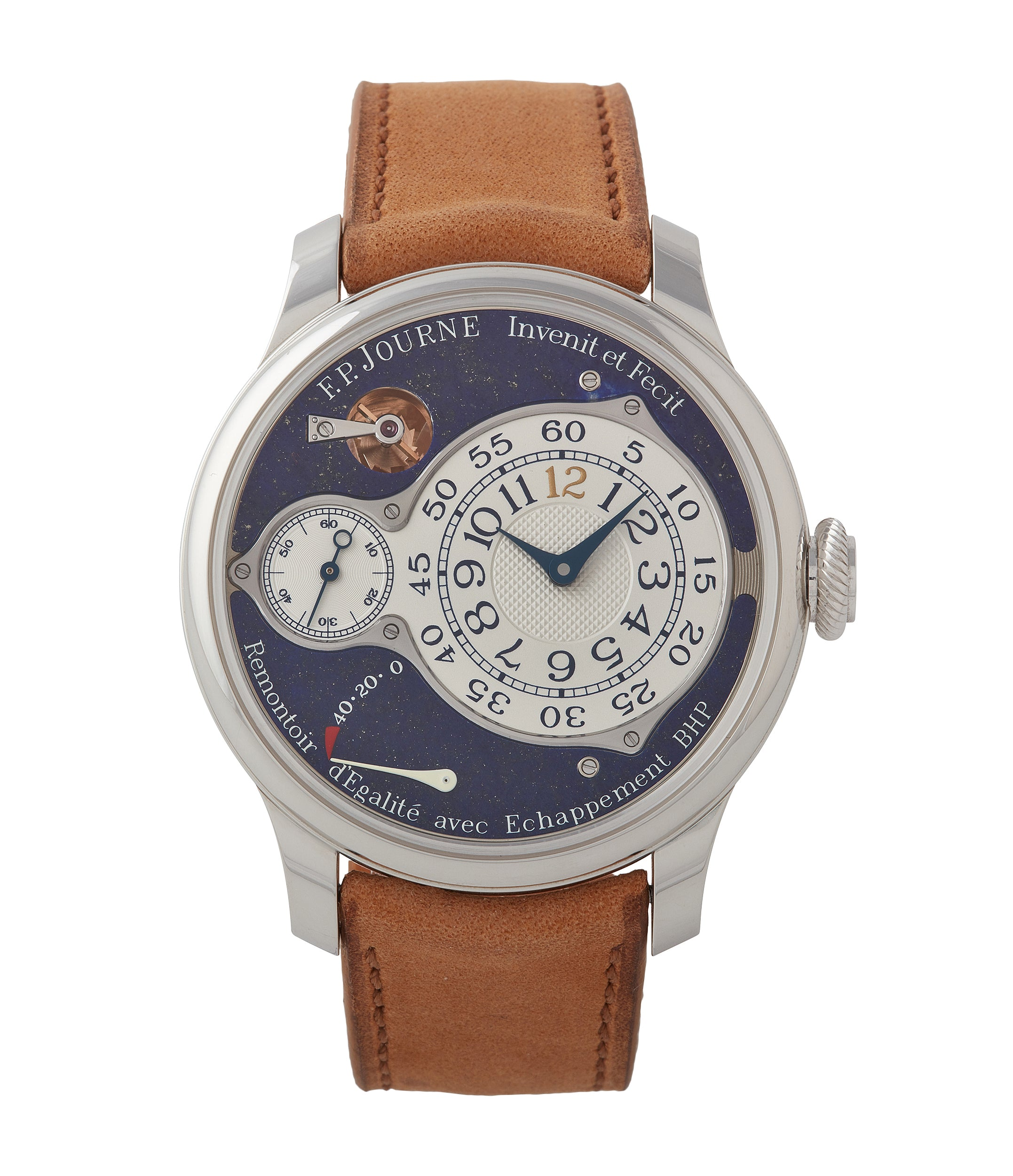 buy F. P. Journe Chronometre Optimum Lapis Lazuli unique piece blue stone dial pre-owned dress watch for sale A Collected Man London UK specialist independent watchmaker