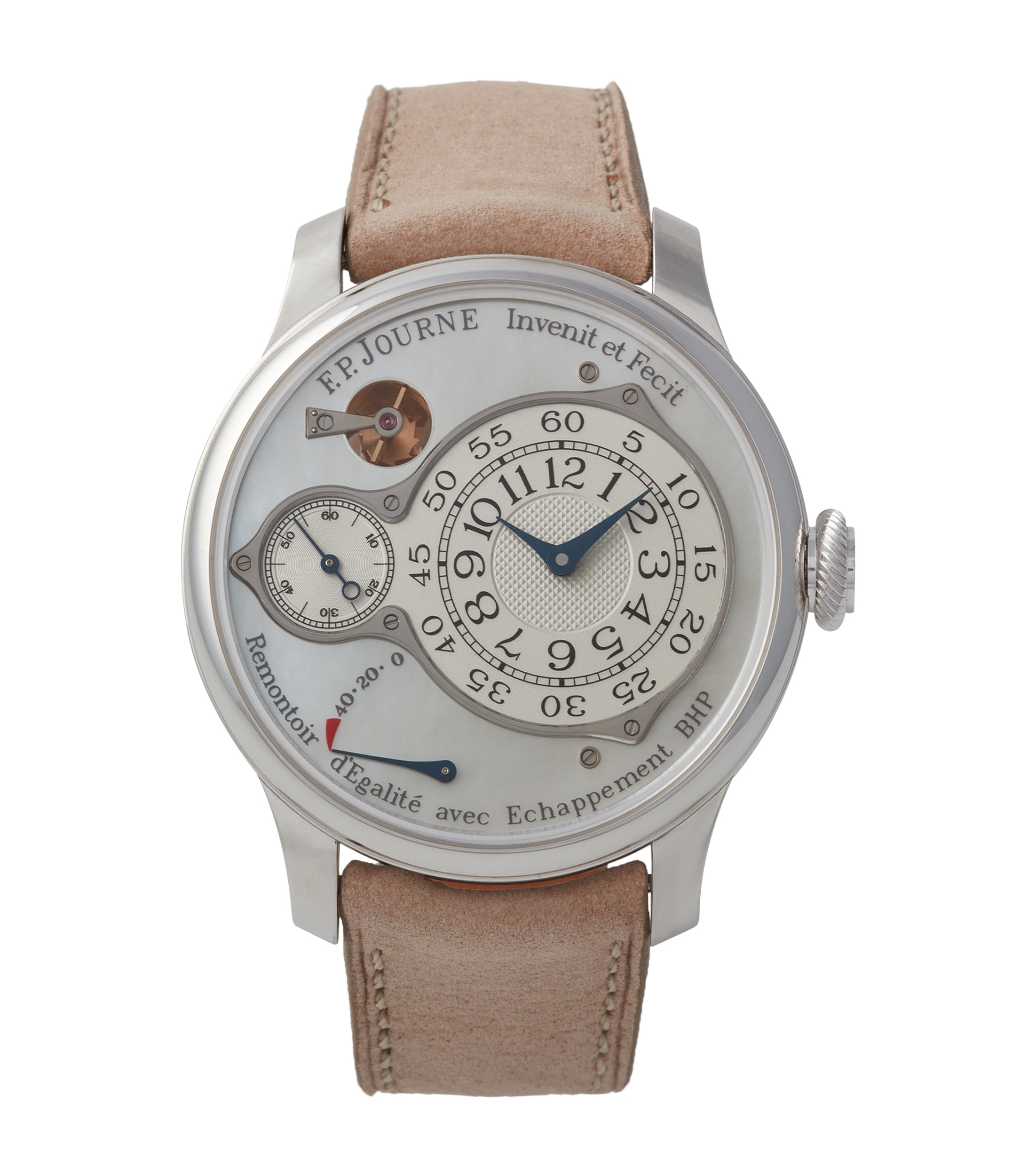 buy F. P. Journe Chronometre Optimum pearl dial platinum dress watch independent watchmaker for sale online A Collected Man London UK specialist rare watches