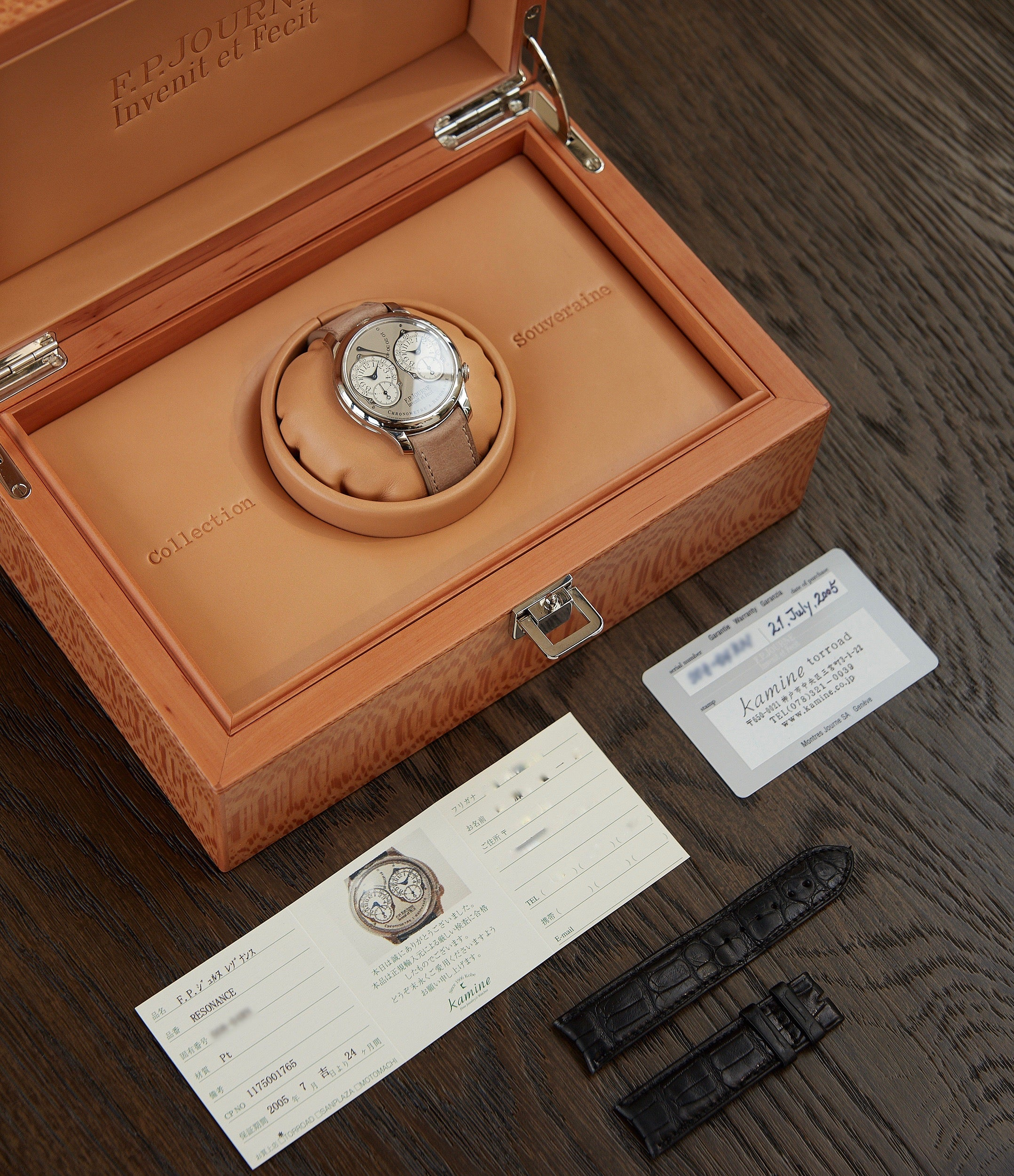 buy pre-owned F. P. Journe full set Chronometre Resonance Second Series RN gold movement platinum watch for sale online at A Collected Man London UK specialist of independent watchmakers