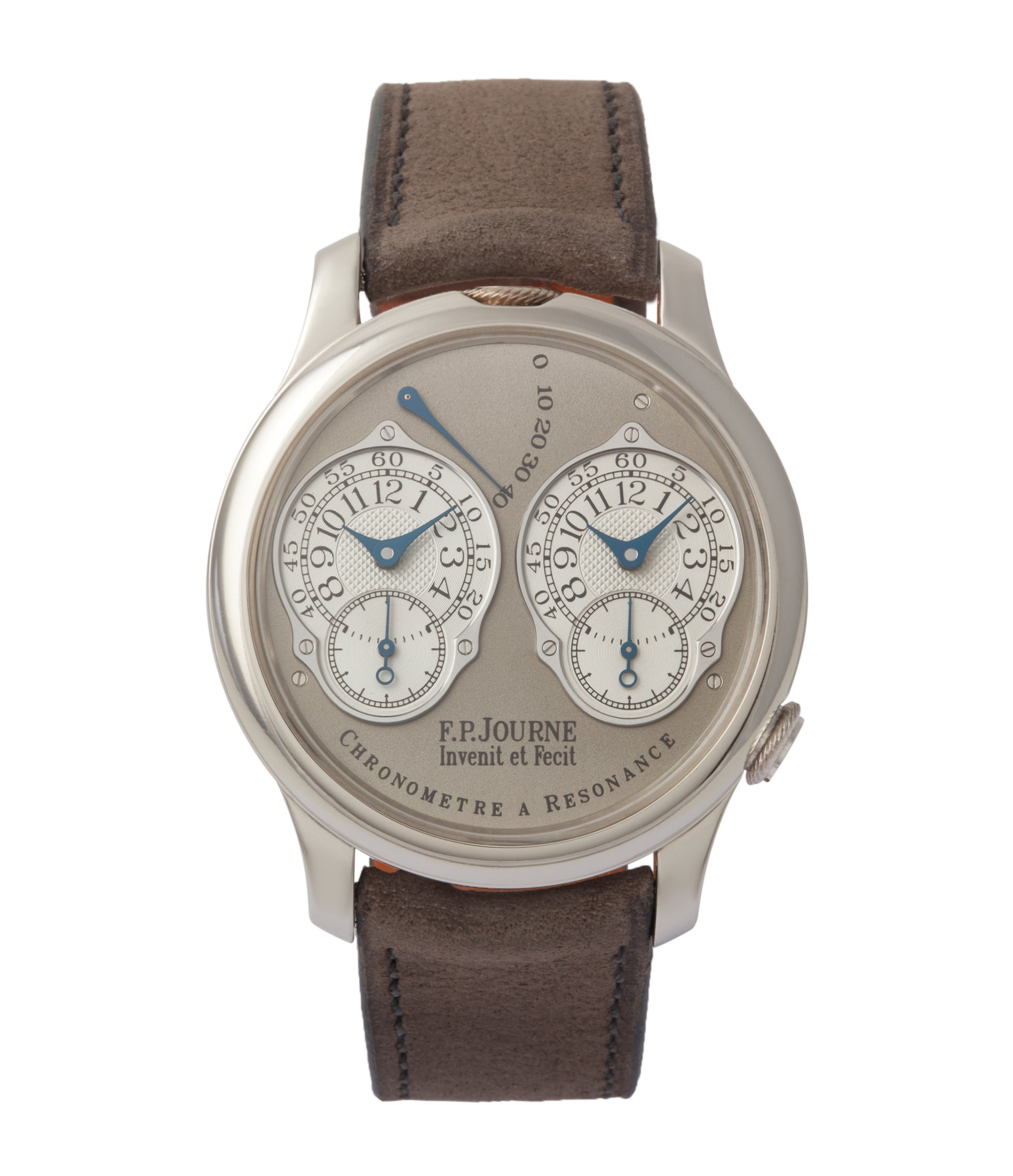 buy F. P. Journe Chronometre a Resonance Second Series RN gold movement platinum watch for sale online at A Collected Man London UK specialist of independent watchmakers