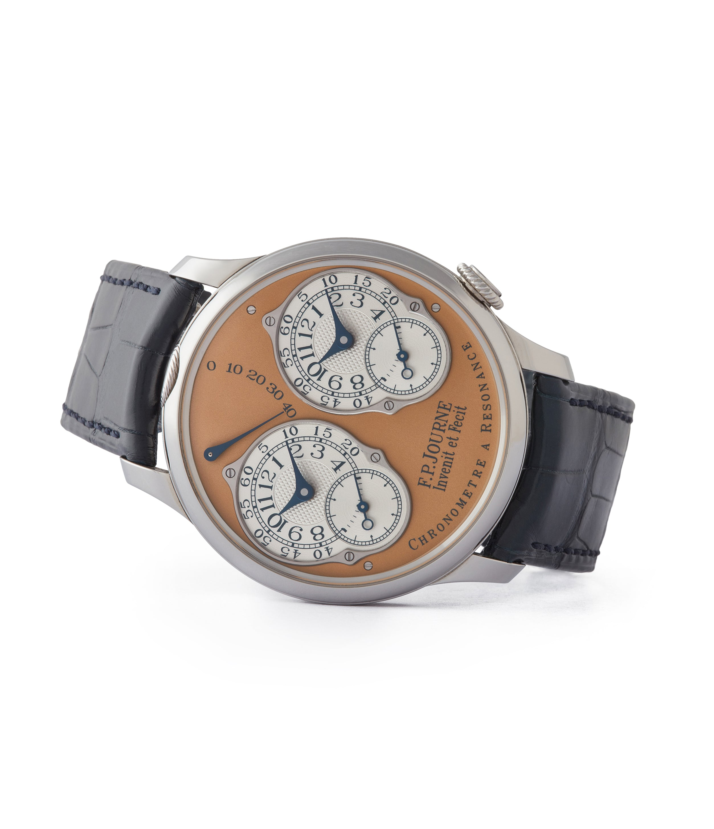 buy pre-owned F.P. Journe Limited Edition Chronomètre Résonance steel 38mm dress watch for sale online at A Collected Man London UK specialist of independent watchmakers