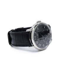 preowned F. P. Journe Chronometre Souverain Black label platinum 38 mm watch online at A Collected Man