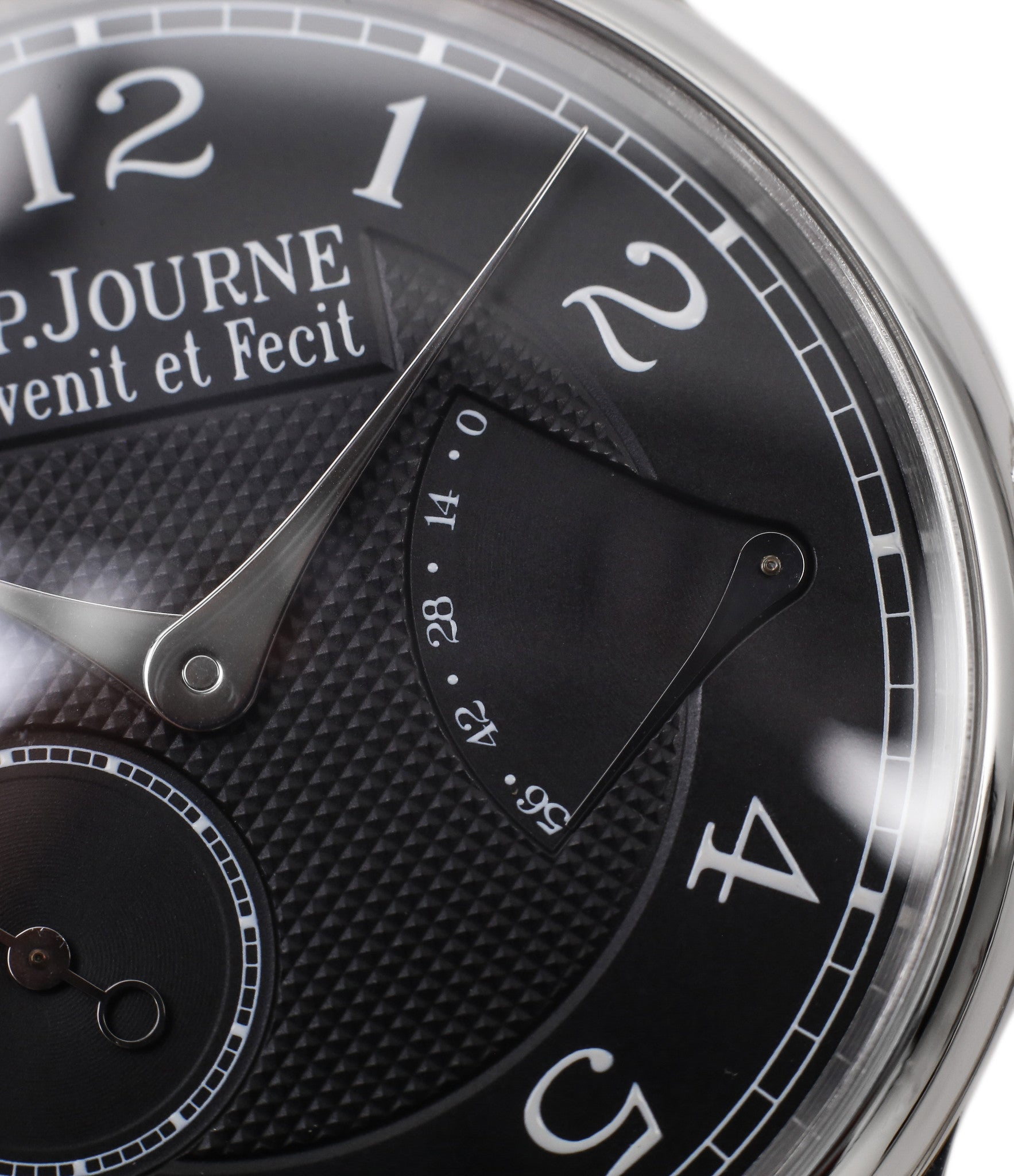 buy F. P. Journe Chronometre Souverain Black label platinum 38 mm watch for sale online at A Collected Man