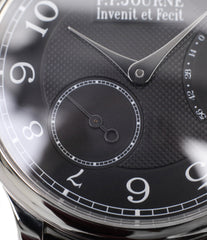 selling rare F. P. Journe Chronometre Souverain Black label platinum 38 mm watch online at A Collected Man