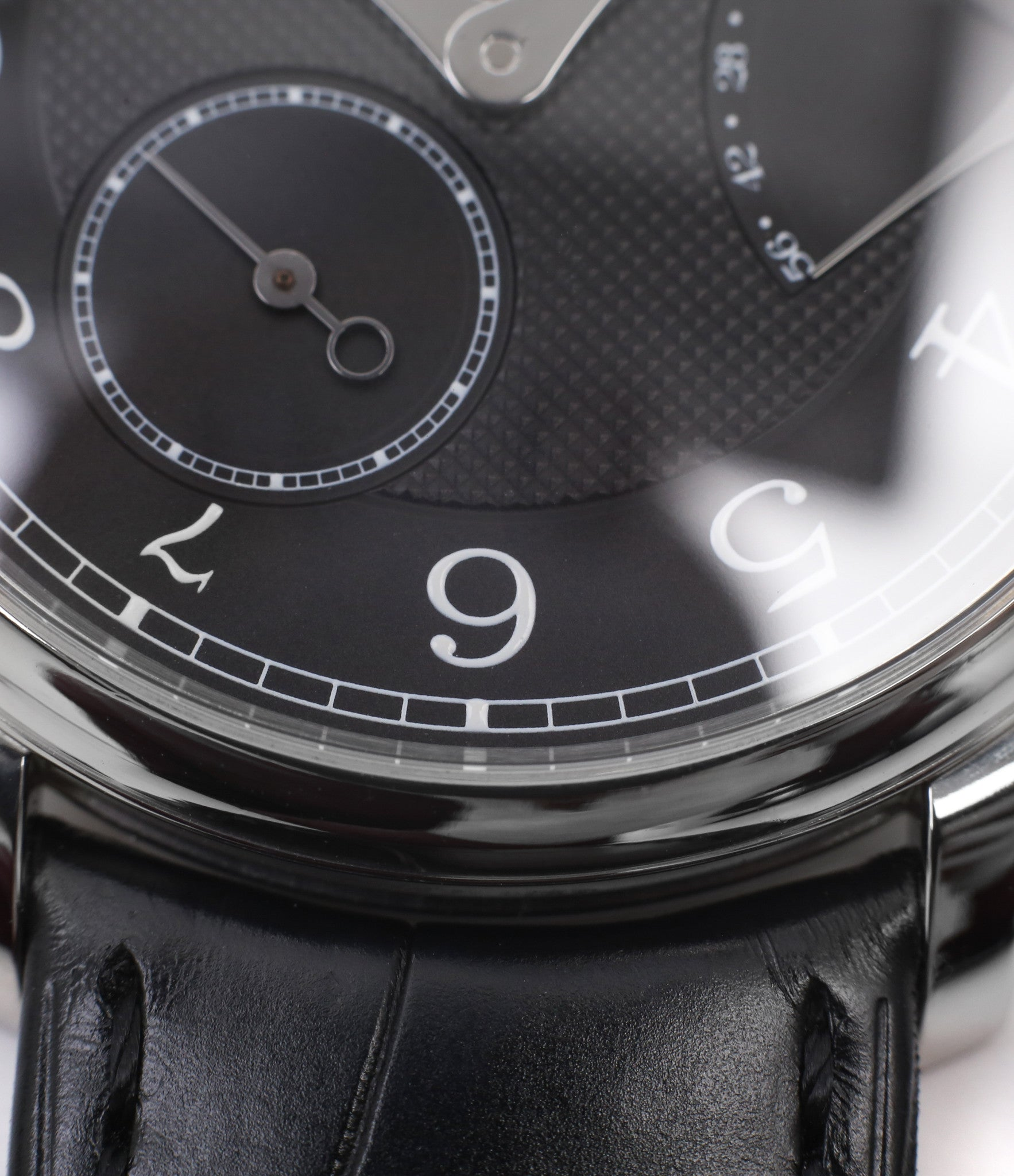 for sale F. P. Journe Chronometre Souverain Black label platinum 38 mm watch online at A Collected Man