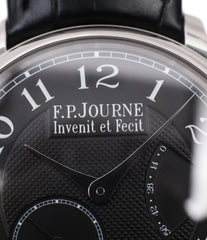 selling F. P. Journe Chronometre Souverain Black label platinum 38 mm watch online at A Collected Man