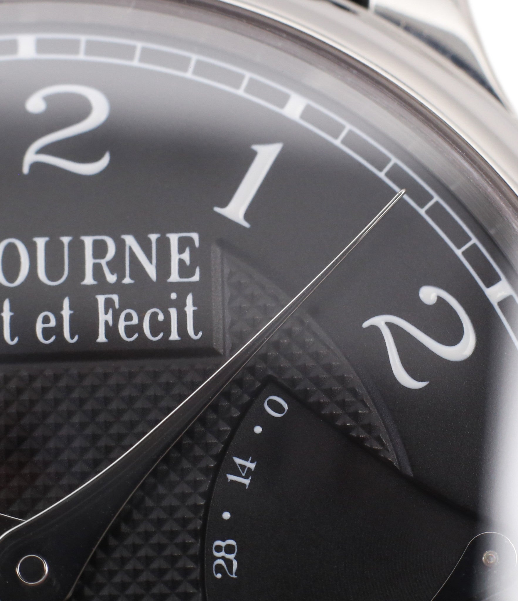 black dial rare F. P. Journe Chronometre Souverain Black label platinum 38 mm watch online at A Collected Man