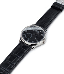 buy black dial dress watch F. P. Journe Chronometre Souverain Black label platinum 38 mm watch online at A Collected Man