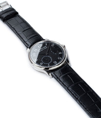 buy independent watchmaker F. P. Journe Chronometre Souverain Black label platinum 38 mm watch online at A Collected Man