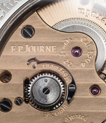 movement manual-winding buy F. P. Journe Chronometre Souverain Black label platinum 38 mm watch online at A Collected Man