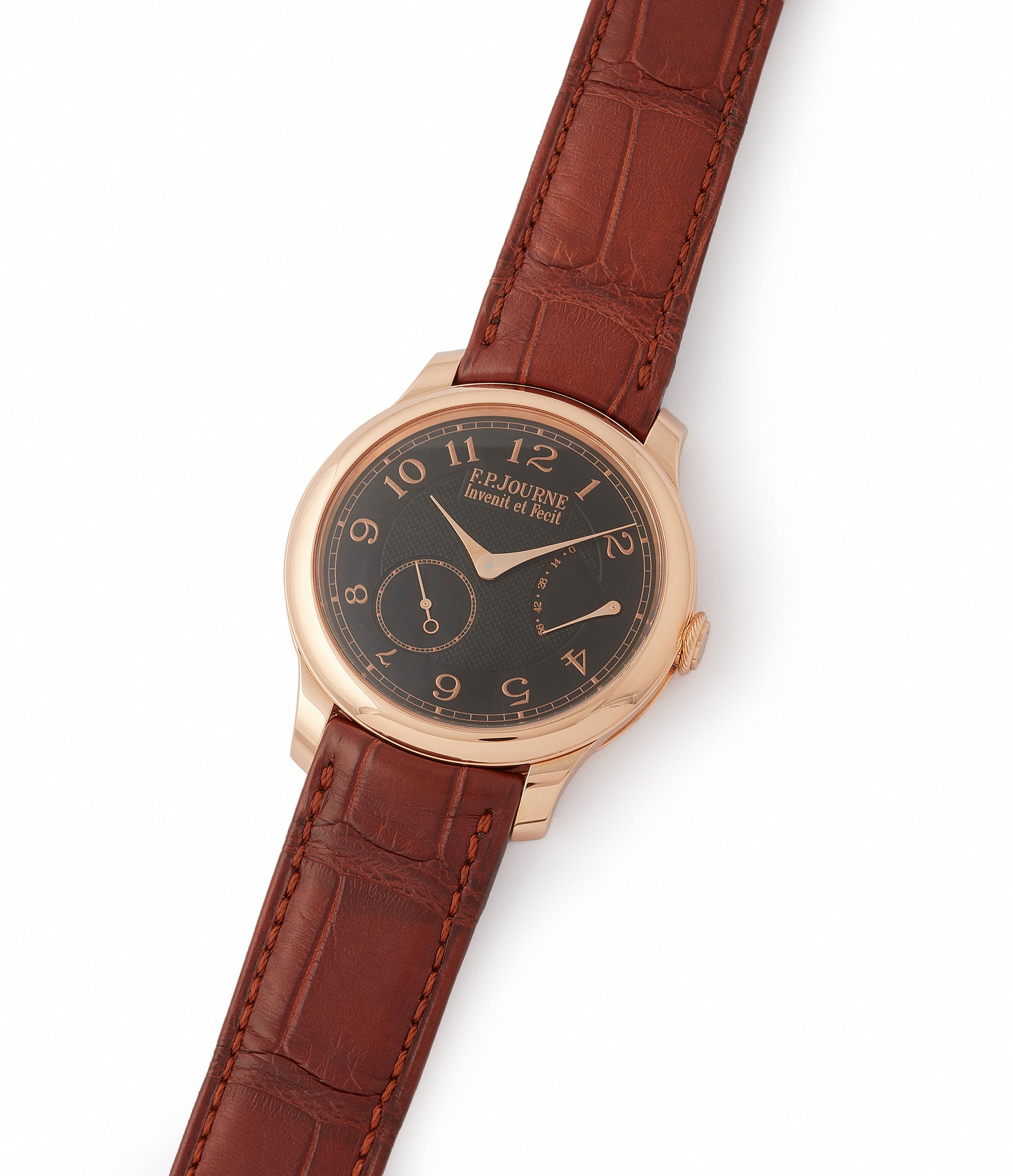 find F. P. Journe Boutique Edition Chronometre Souverain red gold black dial rare watch independent watchmaker for sale online at A Collected Man London UK specialist of rare watches