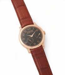 sell F. P. Journe Boutique Edition Chronometre Souverain red gold black dial rare watch independent watchmaker for sale online at A Collected Man London UK specialist of rare watches