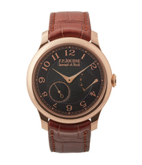 buy F. P. Journe Boutique Edition Chronometre Souverain red gold black dial rare watch independent watchmaker for sale online at A Collected Man London UK specialist of rare watches