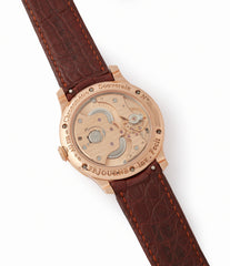Cal. 1304 F. P. Journe Boutique Edition Chronometre Souverain red gold black dial rare watch independent watchmaker for sale online at A Collected Man London UK specialist of rare watches