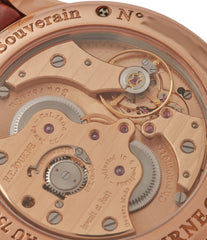hand-finished 1304 movement F. P. Journe Boutique Edition Chronometre Souverain red gold black dial rare watch independent watchmaker for sale online at A Collected Man London UK specialist of rare watches