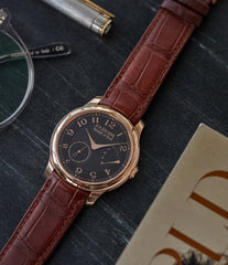 independent watchmaker F. P. Journe Boutique Edition Chronometre Souverain red gold black dial rare watch independent watchmaker for sale online at A Collected Man London UK specialist of rare watches