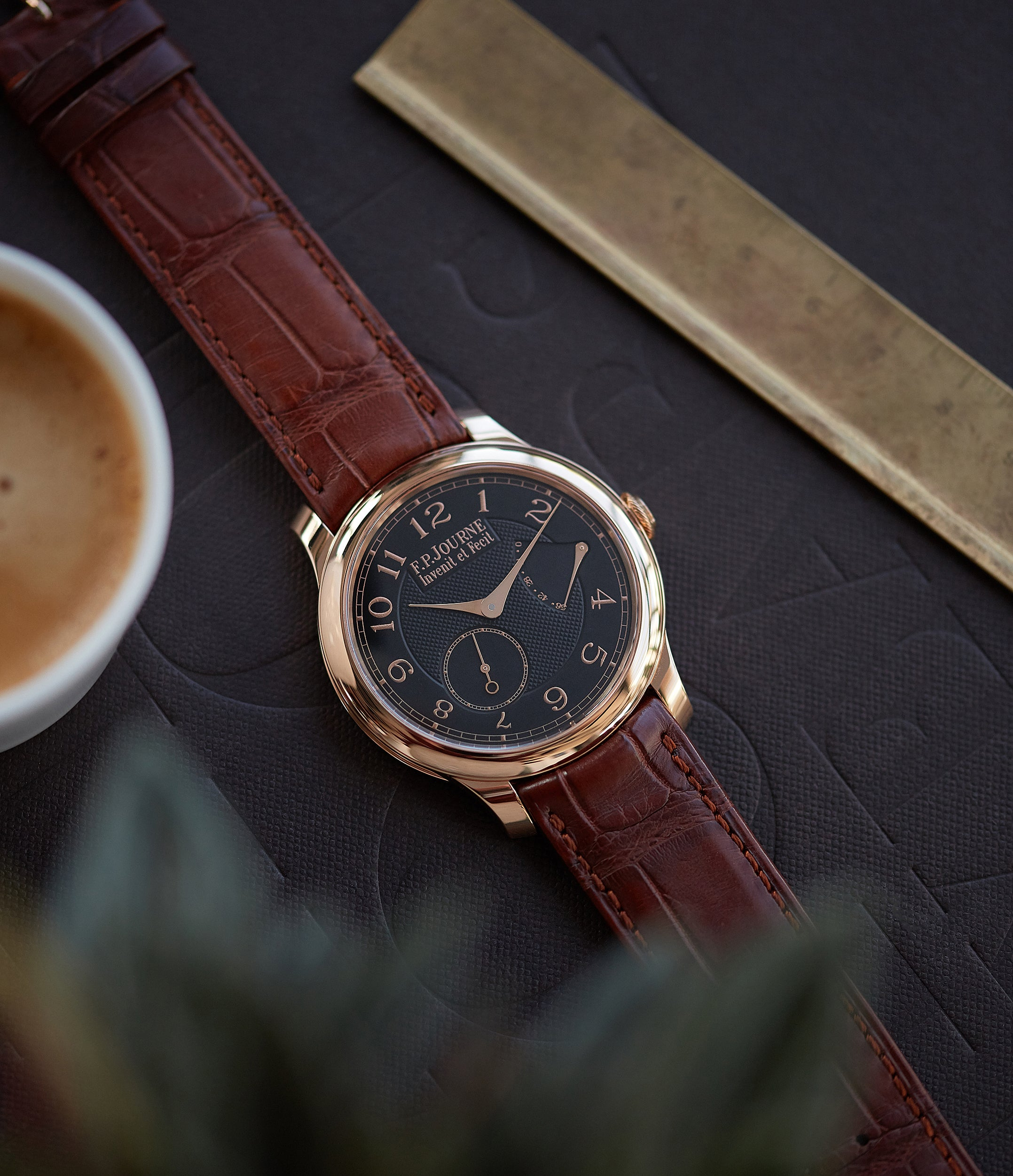 rare F. P. Journe Boutique Edition Chronometre Souverain red gold black dial rare watch independent watchmaker for sale online at A Collected Man London UK specialist of rare watches