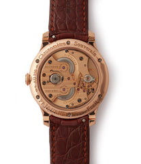 Boutique Edition Journe Chronometre Souverain red gold black dial rare watch independent watchmaker for sale online at A Collected Man London UK specialist of rare watches