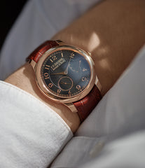 collect F. P. Journe Boutique Edition Chronometre Souverain red gold black dial rare watch independent watchmaker for sale online at A Collected Man London UK specialist of rare watches