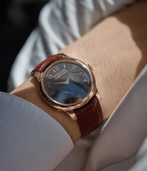 men's luxury rare dress watch F. P. Journe Boutique Edition Chronometre Souverain red gold black dial rare watch independent watchmaker for sale online at A Collected Man London UK specialist of rare watches